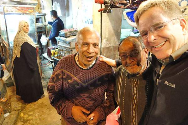 As an American on the streets of Egypt, I received only warm and enthusiastic welcomes.