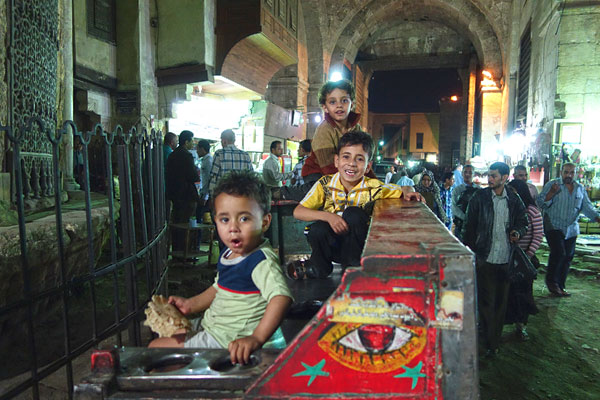 Wandering through Islamic Cairo in the cool of the evening, it seems everything is a bit more relaxed and mellow.