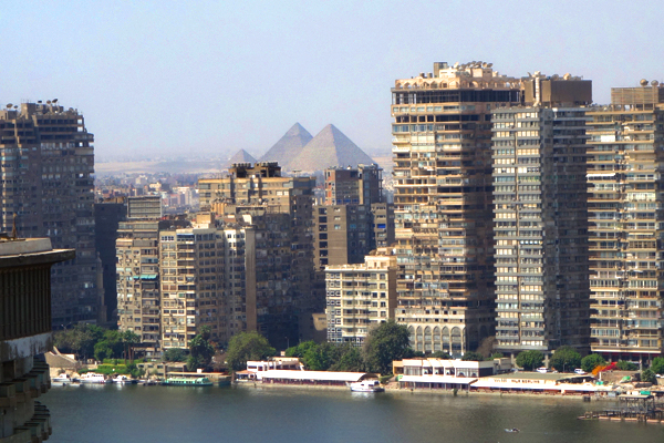 On a crisp day, from my hotel window I can see beyond the intensity of Cairo to the majestic pyramids.
