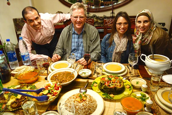 Anytime you have a chance to enjoy a good home-cooked meal with new friends — especially in a developing country — jump on it. While Egyptian apartment flats are caked in soot on the outside, inside they can be filled with love and delightful hospitality...not to mention great food.