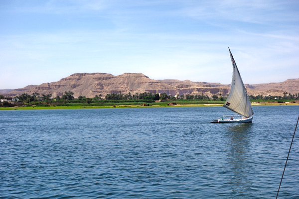 One of the great experiences in Egypt: a romantic felucca ride on the Nile at sunset.