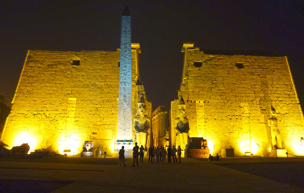 The Temple of Luxor is particularly awe-inspiring when visited floodlit at night.