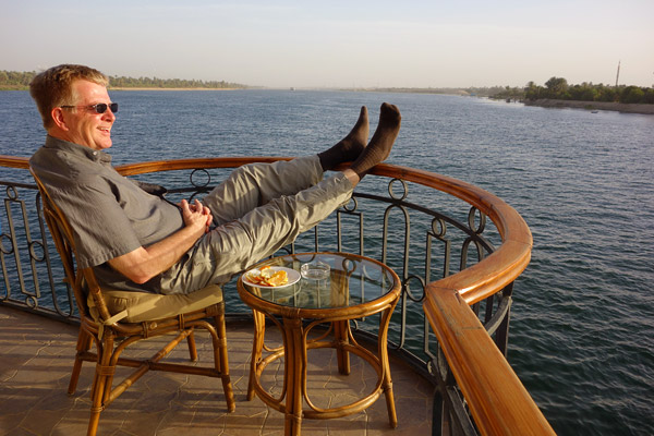 It's easy to get into the lazy rhythm of a Nile River cruise.