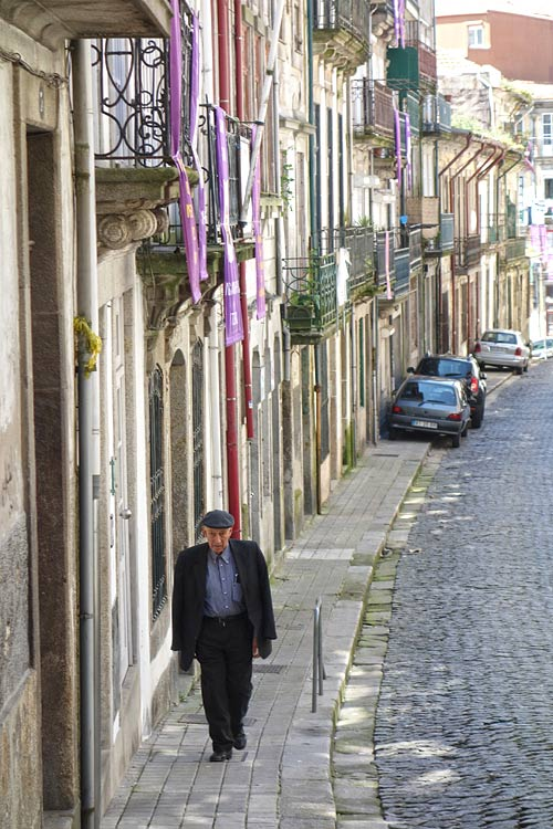 Porto Life Cobbled Together When exploring the back streets of Porto, depth, light, well-worn people, and once-dazzling facades ferment into a nice glass of port for the eyes.