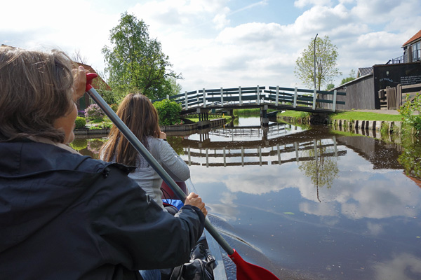 Paddling through villages where front doors face the canal rather than the road is a reminder that there was a time when the main form of transportation in the Netherlands was by boat.