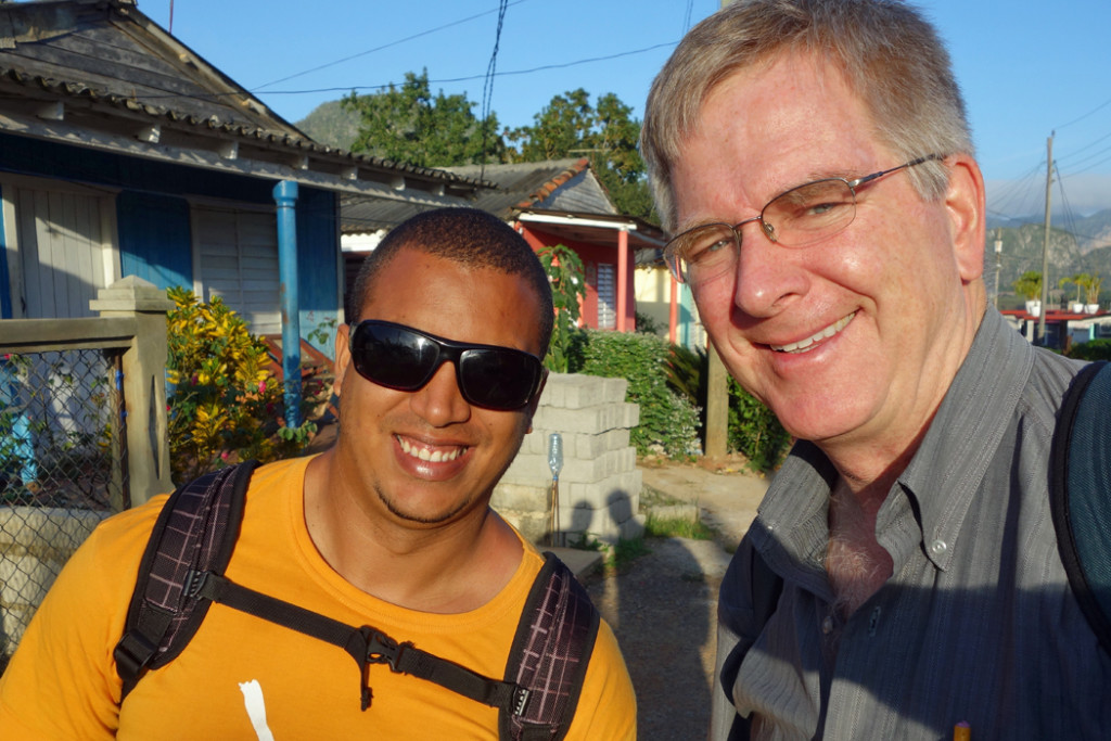 Rick Steves and Reinier Menendez