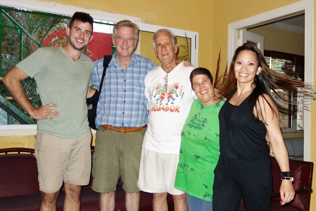 Rick Steves, family, and owners