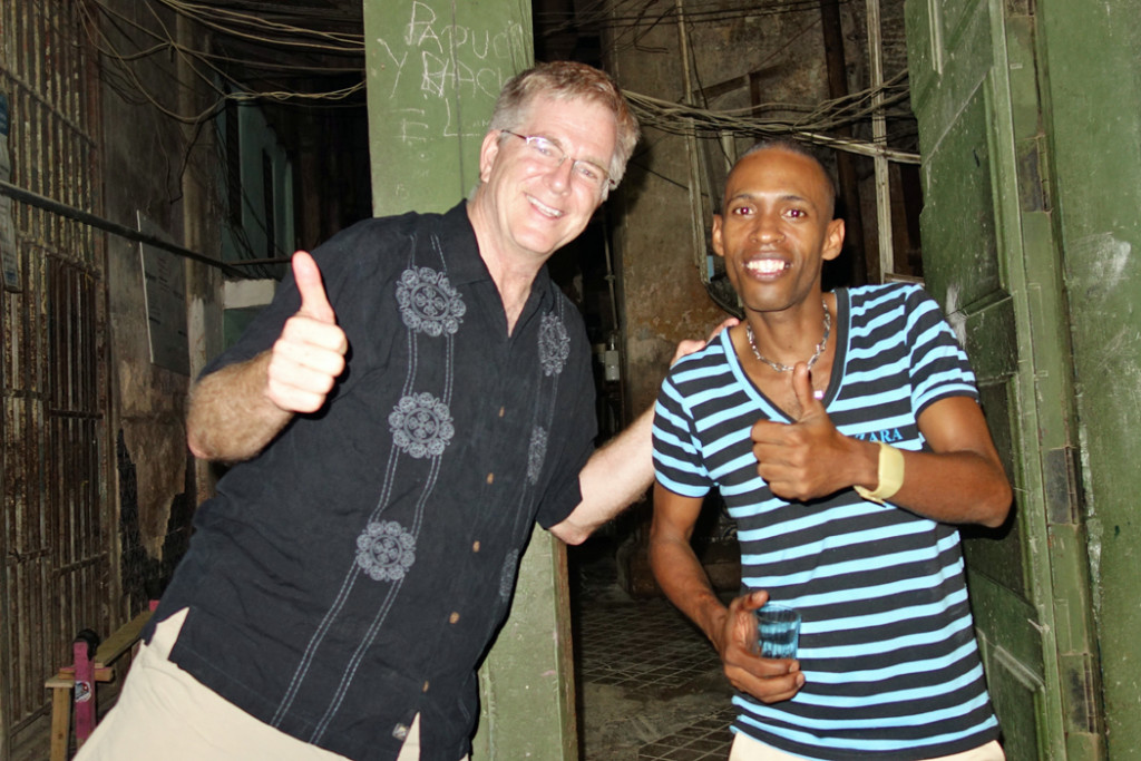 Rick Steves and Cuban party host
