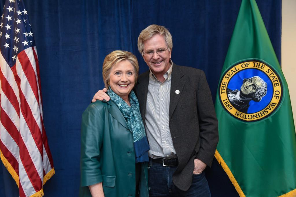 Rick Steves and Hillary Clinton