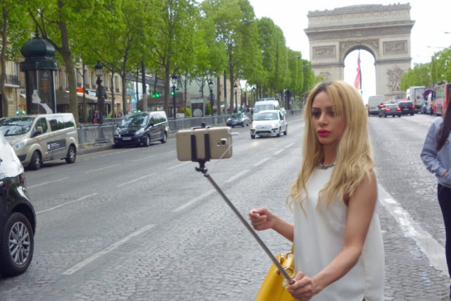 Girl with selfie stick