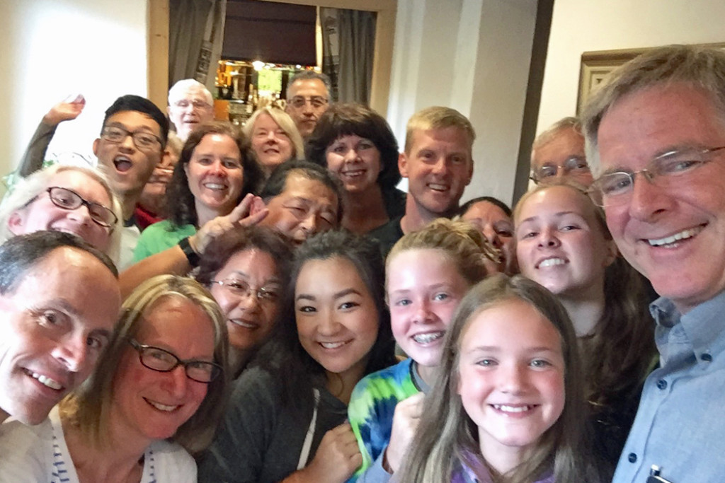 Rick Steves group selfie