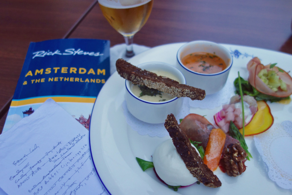 Amsterdam book and food