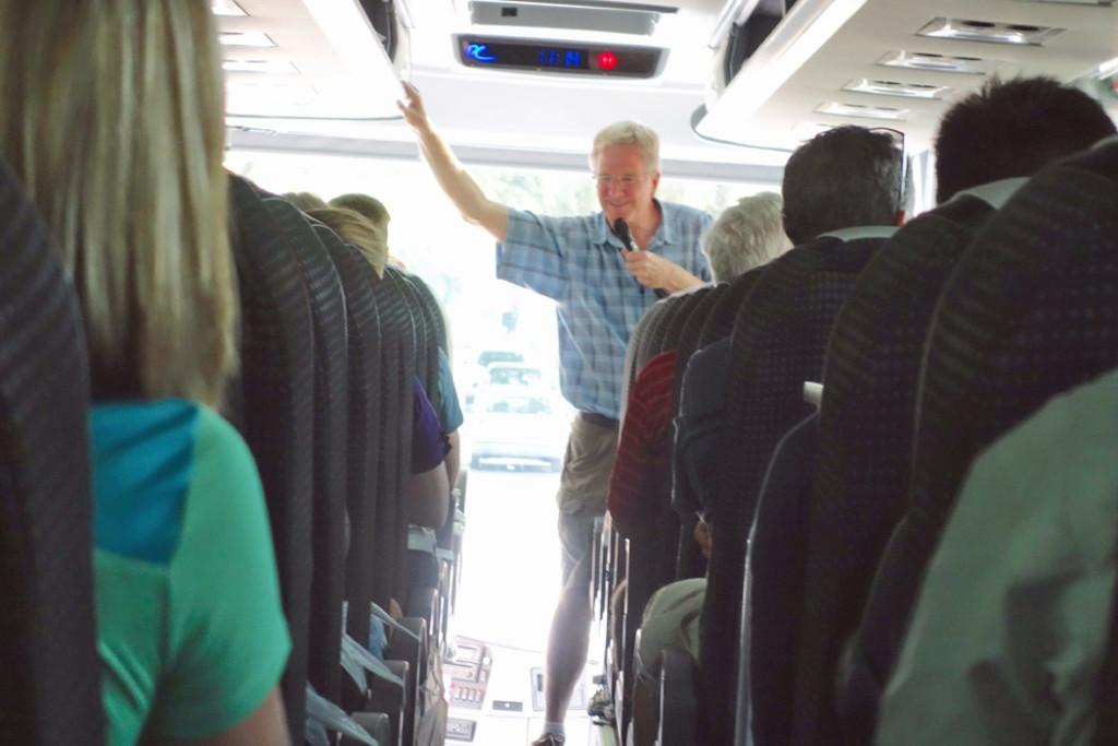 rick steves on bus