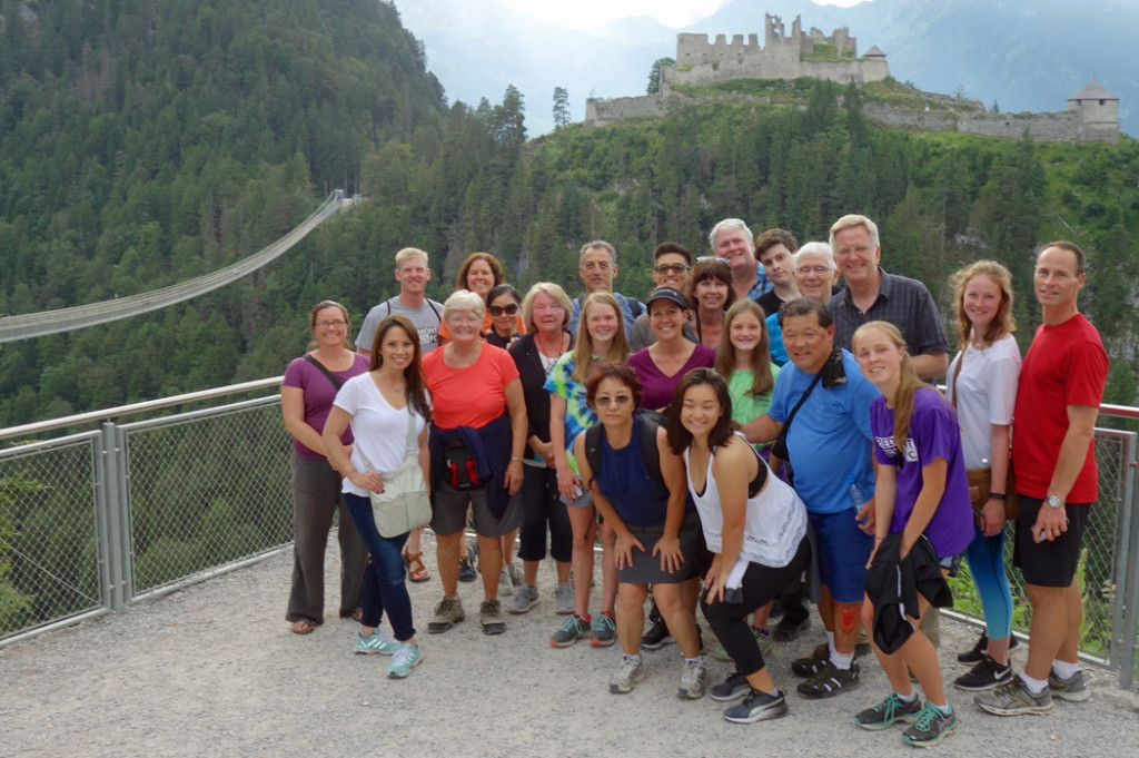 Rick Steves with tour group