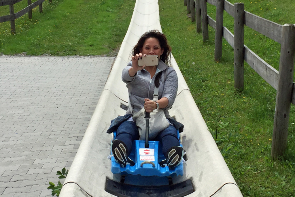 Trish Feaster on luge