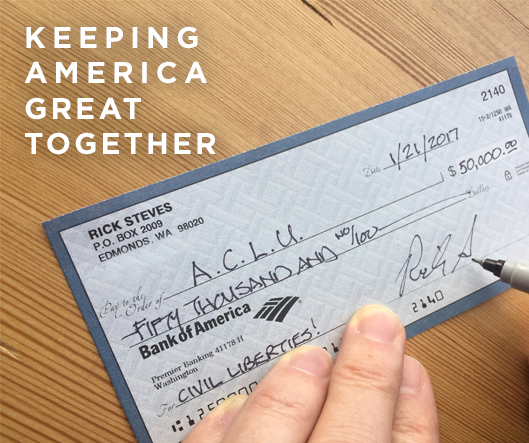 $50,000 check to ACLU