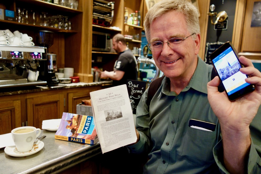 Rick Steves With Iphone And Book