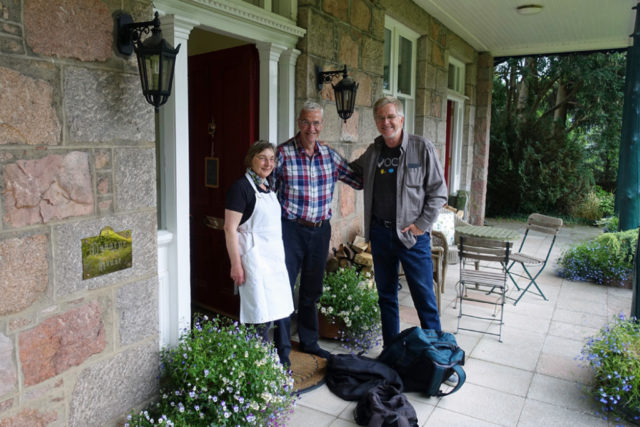 rick steves at b&b with owners