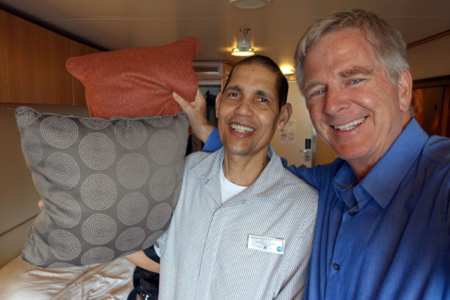 Rick and his stateroom attendant, Adolfo