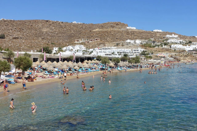Paradise Beach on Mykonos