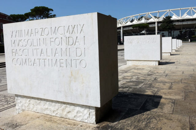 Mussolini's laws written in stone