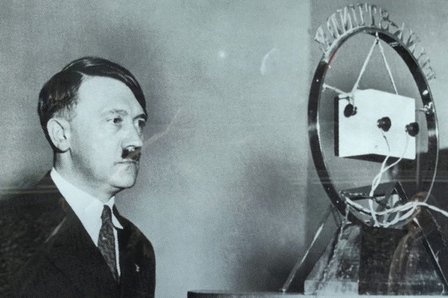 Hitler with microphone