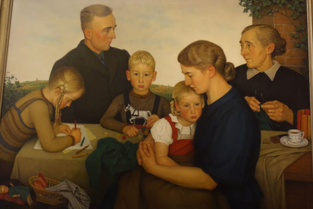"""Farm Family from Kalenberg"" painting by Adolf Wissel"