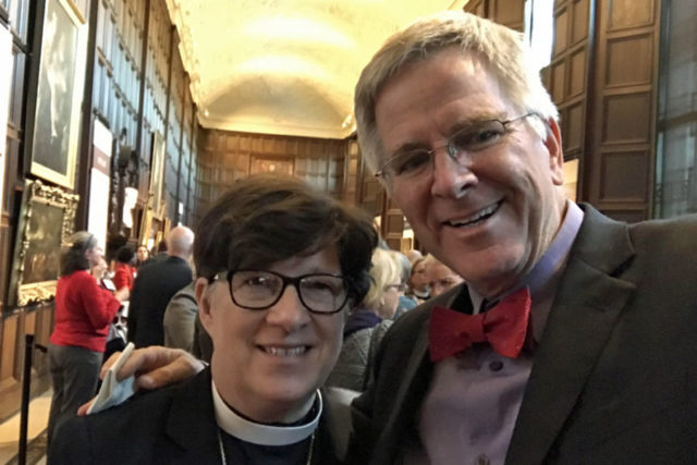 Presiding Bishop Elizabeth Eaton and Rick Steves