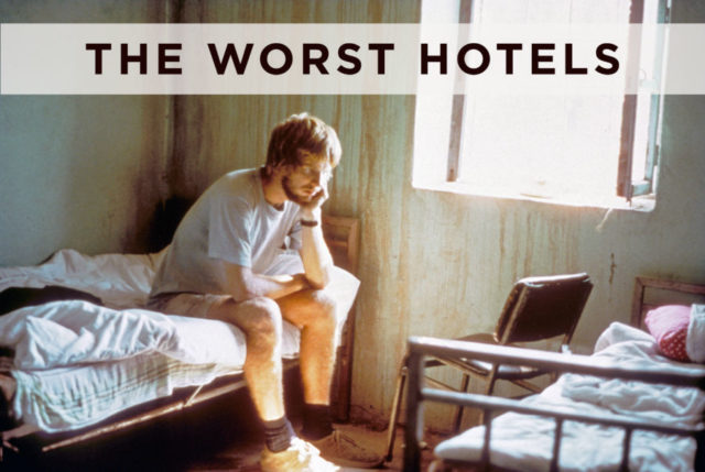 young Rick Steves in hotel