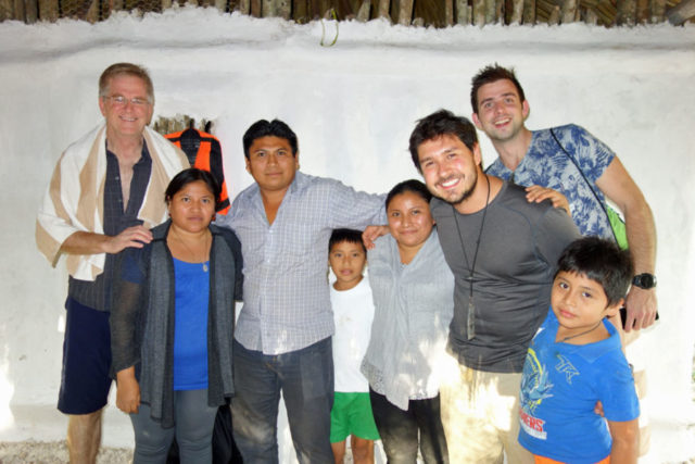 Rick and Andy with Mayan family