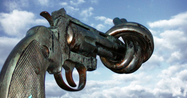 Non-Violence, a sculpture
