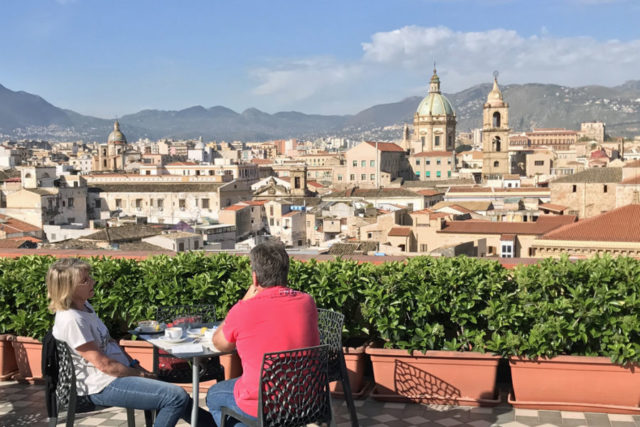 view of Palermo skyline from terrace