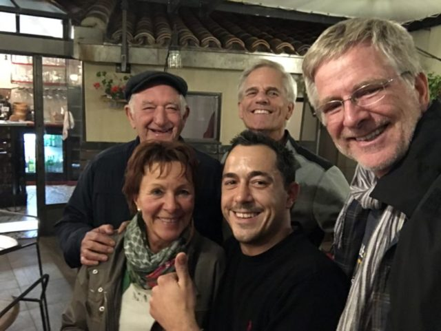 Rick Steves and French family