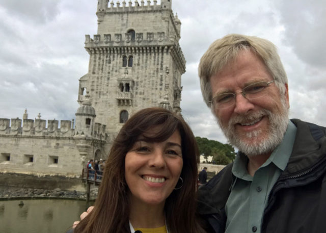 Rick Steves and tour guide Fatima Bugarin