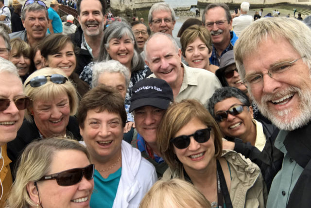 Rick Steves with Portugal tour group