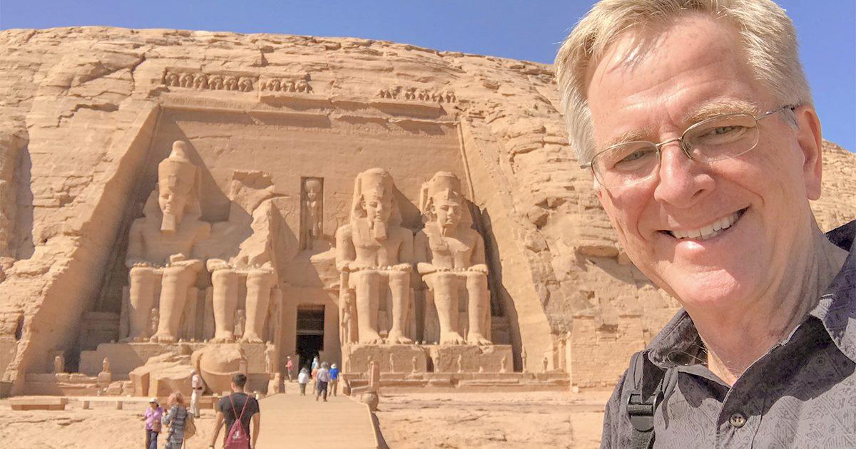 Rick Steves at Abu Simbel
